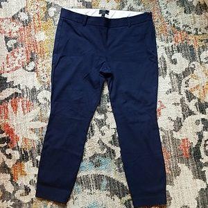 J CREW Navy Blue Size 12 Minnie Crops